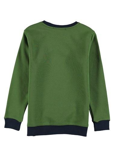 Asymmetry Sweatshirt Yeşil